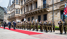 Dutch Royals on the last day of their state visit to Luxembourg - 25 May 2018