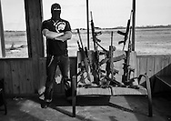 Man with gun collection.