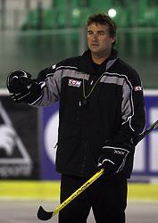 Head coach Mike Posma at second ice hockey practice of HDD Tilia Olimpija on ice in the new season 2008/2009, on August 19, 2008 in Hala Tivoli, Ljubljana, Slovenia. (Photo by Vid Ponikvar / Sportal Images)