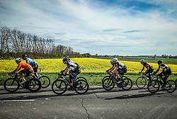 Riders in Dobrovnik during 4th Stage from Prevalje to Dobrovnik, 190 km at Day 4 of DOS 2021 Charity event - Dobrodelno okrog Slovenije, on April 30, 2021, in Slovenia. Photo by Vid Ponikvar / Sportida