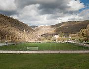 Il campo di calcio del comune di Cascia distanze 5 km da Norcia<br /> 30 ottobre  2016 . Daniele Stefanini /  OneShot
