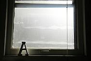Letter A on a windowsill