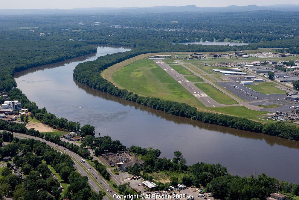 Hartford-Brainard Airport along the Connecticut River, Hartford, CT