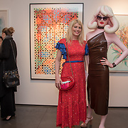 Meredith Ostrom and Pandemonia attend the Art On The Mind - Private view of an exhibition and auction which benefits homeless charity, Cardboard Citizens.