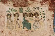 Romania. painted church,cemetery village         / église peinte, cimetière, village  Arbore  Roumanie Pdv le30/04/94 / 304416/14    L940430b    /  P0000933