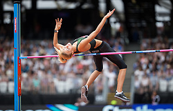 Ukraine's Yuliya Levchenko in the Women's High Jump during day two of the Muller Anniversary Games at The Queen Elizabeth Stadium, London.