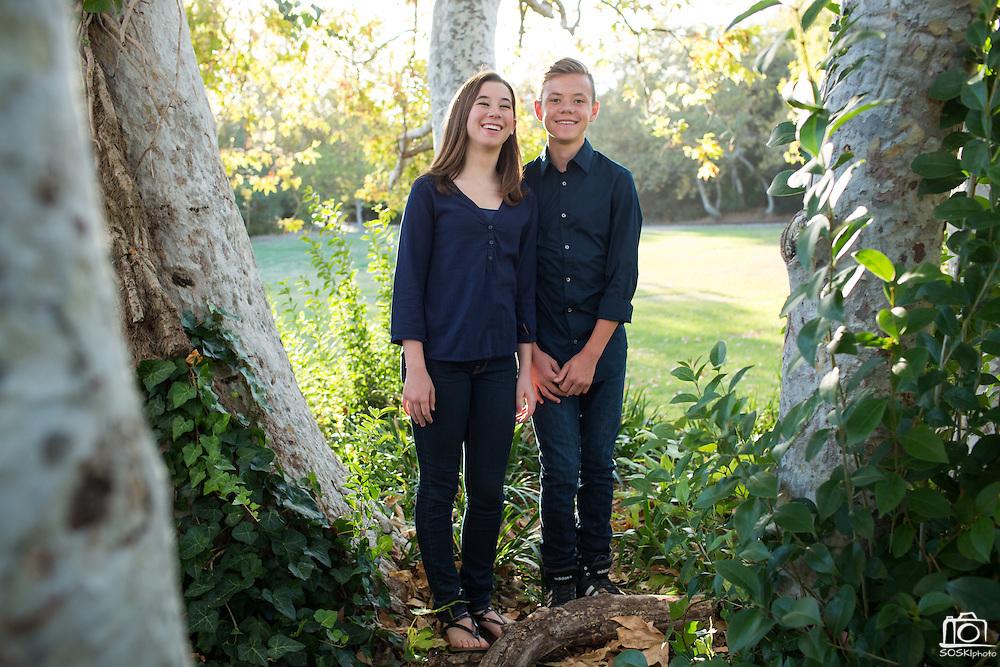 The Arca family poses for portraits at Vasona Lake County Park in Los Gatos, California, on September 22, 2015. (Stan Olszewski/SOSKIphoto)