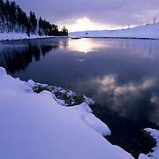 Yellowstone National Park, Winter landscape.