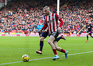 Oli McBurnie of Sheffield Utd in action during the Premier League match at Bramall Lane, Sheffield. Picture date: 9th February 2020. Picture credit should read: Chloe Hudson/Sportimage