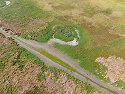 Aerial photograph of Haynie Slough Wildlife Management Area near Pacific Junction, Mills County, Iowa, USA.