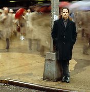 Robert Longo on Wall Street area of New York City.