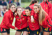 The Spanish team after their match against Australia in the Investec Hockey World League Semi Final 2013, the Quintin Hogg Memorial Sports Ground, University of Westminster, London, UK on 27 June 2013. Photo: Simon Parker