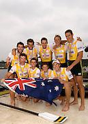 Poznan, POLAND.  2006, FISA, Rowing World Cup Men's eight gold medallist AUS M8+   'Malta Regatta course;  Poznan POLAND, Sat. 17.06.2006. © Peter Spurrier   ....[Mandatory Credit Peter Spurrier/ Intersport Images] Rowing Course:Malta Rowing Course, Poznan, POLAND