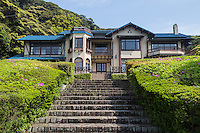 """The Kamakura Museum of Literature or Kamakura Bungakukan is a small museum that containing material on the subject of writers who have lived in Kamakura.   Displayed are personal effects, manuscripts, first editions owned by more than a hundred writers of Japanese literature, including Soseki Natsume and Kawabata Yasunari, as well as film director Yasujiro Ozu. The museum is housed in a beautiful villa overlooking the Shonan Coast. The villa was originally owned by the Maeda family.  The villa was the setting for an important scene from the novel """"Spring Snow"""" by Yukio Mishima."""