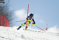 Paul Ladouceur Slalom U14 mens with the Gunstock Ski Club.  ©2017 Karen Bobotas Photographer