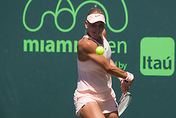 March 23, 2018 - Key Biscayne, FL, U.S. - KEY BISCAYNE, FL - MARCH 23: Elena Vesnina (RUS) in action on Day 5 of the Miami Open Presented at Crandon Park Tennis Center on March 23, 2018, in Key Biscayne, FL. (Photo by Aaron Gilbert/Icon Sportswire) (Credit Image: © Aaron Gilbert/Icon SMI via ZUMA Press)