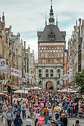 Gdańsk, (woj. pomorskie) 18.07.2016. Ulica Długa w Gdańsku.
