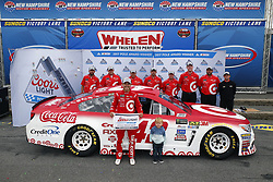 July 14, 2017 - Loudon, NH, United States of America - July 14, 2017 - Loudon, NH, USA: Kyle Larson (42) wins the pole award for the Overton's 301 at New Hampshire Motor Speedway in Loudon, NH. (Credit Image: © Justin R. Noe Asp Inc/ASP via ZUMA Wire)