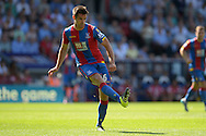 Scott Dann of Crystal Palace passing the ball. Barclays Premier league match, Crystal Palace v Aston Villa at Selhurst Park in London on Saturday 22nd August 2015.<br /> pic by John Patrick Fletcher, Andrew Orchard sports photography.