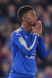 Leicester City's Demarai Gray rues a missed chance