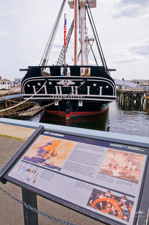 "USS Constitution (""Old Ironsides"") on the Freedom Trail, Charlestown Navy Yard, Boston, Massachusetts"