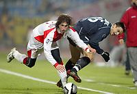 Fotball<br /> UEFA-cupen 2004/05<br /> Lille v Sevilla<br /> 15. februar 2004<br /> Foto: Digitalsport<br /> NORWAY ONLY<br /> SERGIO RAMOS GARCIA (SEV) / MILENKO ACIMOVIC (LIL)