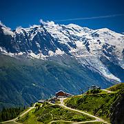 Looking across the Chamonix valley