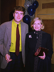The HON.CHRISTOPHER TENNANT and his mother LADY GLENCONNER, at a luncheon in London on 11th December 1997.MEF 15