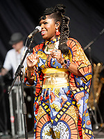 Ibibio Sound Machine AT 'LONDON'S FIRST FESTIVAL THIS SUMMER KALEIDOSCOPE TAKES PLACE AT ALEXANDRA PALACE,PHOTO BY BRIAN JORDAN