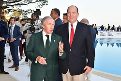 Sir Jackie Stewart and His Serene Highness Prince Albert of Monaco attends Amber Lounge UNITE 2018 in aid of Sir Jackie Stewart's foundation 'Race Against Dementia' at Le Meridien Hotel on May 25, 2018 in Monte-Carlo, Monaco. Photo by Laurent Zabulon/ABACAPRESS.COM