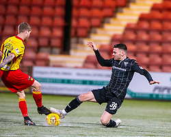 Partick Thistle's Tom Robson and Dunfermline's Greg Kiltie. Dunfermline 5 v 1 Partick Thistle, Scottish Championship game played 30/11/2019 at Dunfermline's home ground, East End Park.