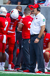 NORMAL, IL - October 05:  Brock Spack during a college football game between the ISU (Illinois State University) Redbirds and the North Dakota State Bison on October 05 2019 at Hancock Stadium in Normal, IL. (Photo by Alan Look)