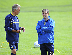 Bristol Rovers Manager, John Ward talks with Bristol Rovers assistant manager, Darrell Clarke - Photo mandatory by-line: Joe Meredith/JMP - Tel: Mobile: 07966 386802 24/06/2013 - SPORT - FOOTBALL - Bristol -  Bristol Rovers - Pre Season Training - Npower League Two