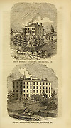 Orr's Female Academy and Baptist Theological Seminary, Covington, KY from the book ' Historical Sketches Of Kentucky (1847) ' ITS HISTORY, ANTIQUITIES, AND NATURAL CURIOSITIES, GEOGRAPHICAL, STATISTICAL, AND GEOLOGICAL DESCRIPTIONS. WITH ANECDOTES OF PIONEER LIFE By Lewis Collins. Published by Lewis Collins, Maysville, KY. and J. A. & U. P. James Cincinnati. in 1847