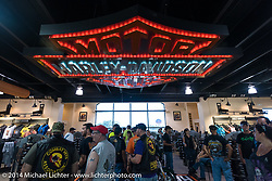 Bruce Rossmeyer's Harley-Davidson at Destination Daytona in Ormond Beach during Biketoberfest, FL, October 18, 2014, photographed by Michael Lichter. ©2014 Michael Lichter