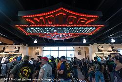 Bruce Rossmeyer's Harley-Davidson at Destination Daytona in Ormond Beach during Biketoberfest, FL, October 18, 2014, photographed by Michael Lichter. ©2014 Michael Lichter