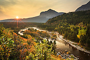 Swiftcurrent River in Glacier National Park, Montana.