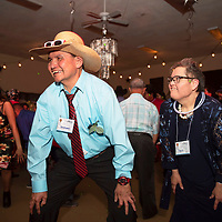 Christopher Yazzie, left, and Regina Purdy dance together at Night to Shine, Friday, Feb. 7 at the New Life Christian Assembly in Pinedale. Night to Shine is a prom for adults and teens older than 14 with special needs sponsored by the Tim Tebow Foundation. The prom is free of charge and this is the second year that Pastor Nathan Lynch and New Life Christian Assembly host the prom in Pinedale.