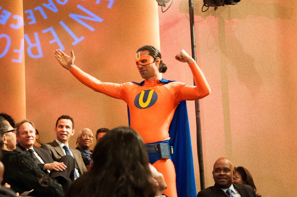New York, NY: Tuesday, April 5th, Charachters from comic book The Adventures of Unemployed Man written by Gan Golan take over the awards ceremony for Opportunity Agendad Creative Change Awards at the Paley Center for Media. This years honorees included Anita Hill and Jose Antonio Vargas with featuring guests Emma Coleman Jordan, Sayu Bhojwani, Alan Jenkins, Carlos Watson, Gan Golan creator of The Adventures of Unemployed Man.  Photos by Tiffany L. Clark