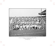 Neg No:.430/6025-6028...17031954IPFCF...17.03.1954..Interprovincial Railway Cup Hurling - Final.Leinsterv. Munster.Munster Team..Leinster.0-9.Munster.0-5..HURLING- Incorrect Folder