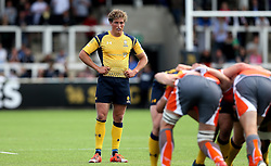 Tiff Eden of Worcester Warriors stands over a scrum - Mandatory by-line: Robbie Stephenson/JMP - 30/07/2016 - RUGBY - Kingston Park - Newcastle, England - Worcester Warriors v Newcastle Falcons - Singha Premiership 7s