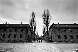 A general view of Auschwitz I camp.