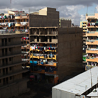 Housing blocks in the Pipeline district of Nairobi where Lilian Mutheu lives.<br /> <br /> Lilian Mutheu is a mentor in the Dreams project in Nairobi, Kenya.<br /> <br /> DREAMS is an acronym for Determined, Resilient, Empowered, AIDS-free, Mentored, and Safe women. The project aims to empower girls and young women between 10 and 24 years around issues including HIV prevention, contraceptive methods, health, education and social economic intervention.<br /> <br /> Lilian, who is mother, is familiar with some of the issues through her own personal experience and provides guidance and support to hundreds of young w