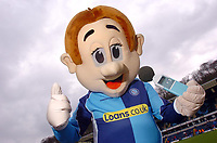 Photo: Leigh Quinnell.<br /> Wycombe Wanderers v Shrewsbury Town. Coca Cola League 2. 11/03/2006. Bodger the mascot makes some noise.