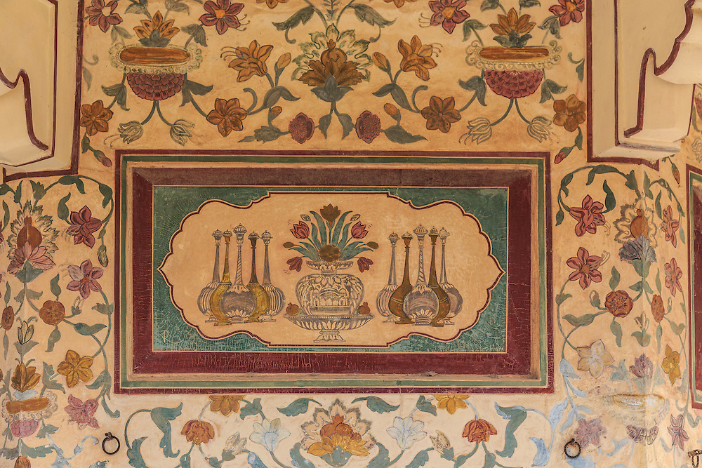 Decorations in Amer Fort in Jaipur, India.