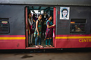 For increased safety and protection, most trains leaving Mumbia's railway station now offer a Women-Only carriage, Chhatrapati Shivaji Terminus (CST), Mumbai, India