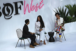 June 19, 2018 - Los Angeles, California, USA - 6/18/18.Kim Kardashian, Kris Jenner and Imran Amed at the Business Of Fashion Presents The Inaugural BoF West Summit held at the Westfield Century City in Los Angeles, CA. (Credit Image: © Starmax/Newscom via ZUMA Press)