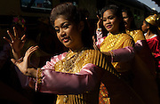 """Welcome ceremony for passengers boarding the Eastern and Oriental Express' """"Epic Thailand"""" journey,at Hualumphong Station, Bangkok, Thailand"""
