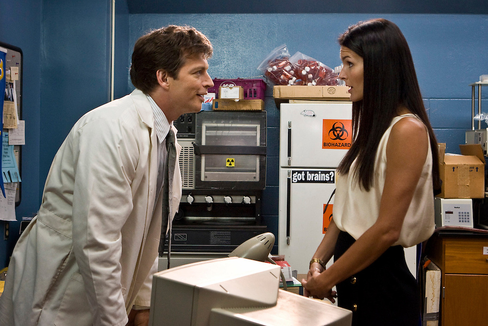 Harry Connick, Jr. as Dr. Dennis Slamon and Angie Harmon as Lilly Tartikoff in Lifetime Television's 'Living Proof' - the inspiring true story of Dr. Dennis Slamon, a doctor who devoted his life to finding a treatment for breast cancer.