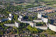Nederland, Utrecht, Veenendaal, 27-05-2013;<br /> hoogbouwflats in de wijk Dragonder.<br /> High rise and appartment buildings in Veenendaal. <br />  buildings and aluchtfoto (toeslag op standard tarieven)<br /> aerial photo (additional fee required)<br /> copyright foto/photo Siebe Swart